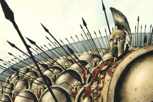 Leonidas and his army waiting for the enemy (300 Comics) HD