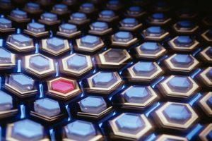3D Blue Hexagons HD