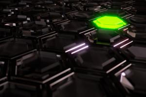 3D Dark Hexagons HD