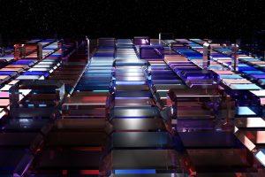 3D Glass Cubes 4K
