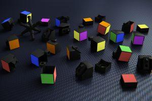 3D Rubik's Cube Disassembled 4K