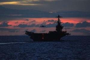 Aircraft Carrier at Nightfall HD