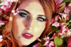 Beautiful Redhead Painting 5K