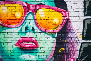 Woman with Sunglasses (Graffiti) 4K