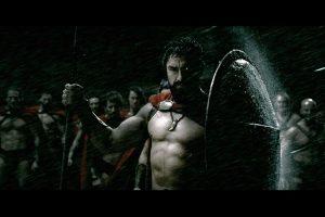Leonidas during a storm (300) HD