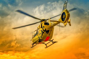 ADAC Rescue Helicopter At Sunset 6K
