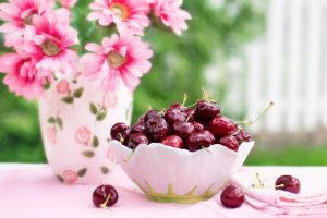 Cherries in a bowl 4K
