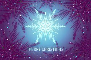 Merry Christmas (Blue) 4K