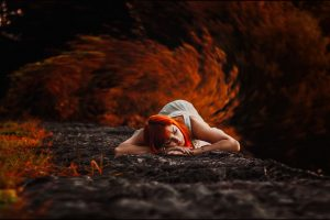 Pretty redhead woman (Autumn) 6K