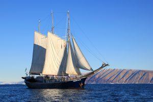 Sailboat in Greenland 4K