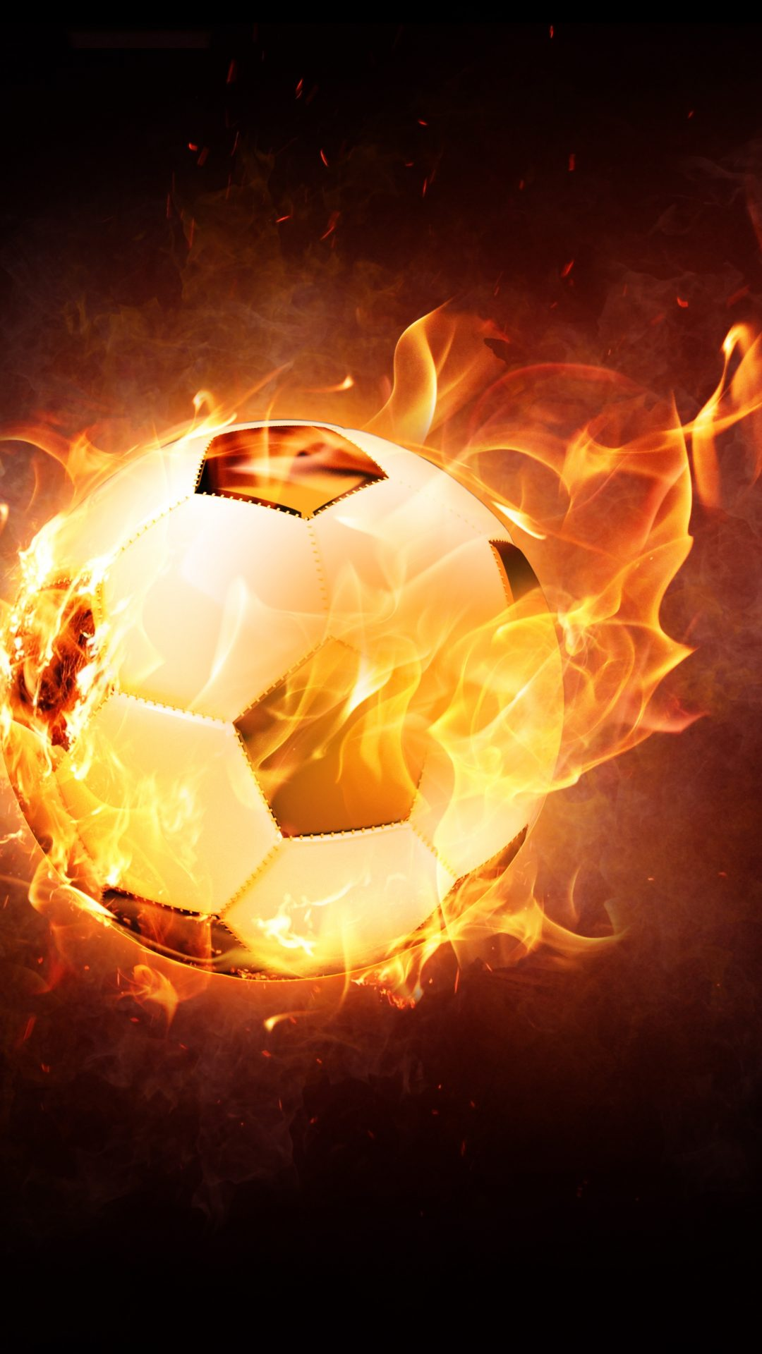 Awesome soccer balls on fire
