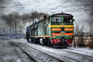 Locomotive in Russia HD