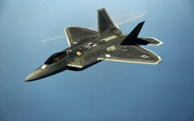 Lockheed Martin F 22 Raptor Black