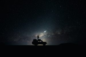 Man Looking At The Milky Way 7K