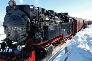 Steam Train At Bahnhof Brocken 5K