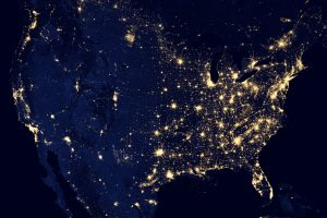 View Of United States From Space At Night 6K