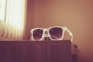White Sunglasses Posed On The Table (Summer) 6K