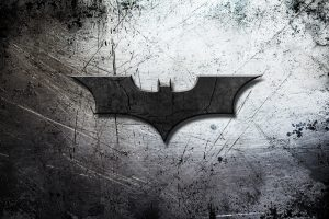 Batman Begins Logo On Scratched Background 4K