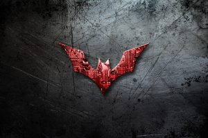 Batman Beyond Logo On Scratched Background 4K