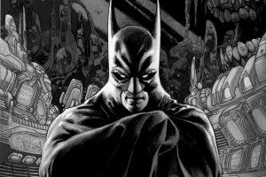 Batman Drawing (Black and White) 5K