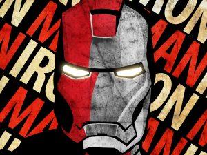 Iron Man Face (Grunge – Marvel Comics) 6K