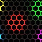 Multicolor Hexagon Pattern 4K