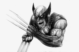 Wolverine Berserker Rage (Black and White) 8K