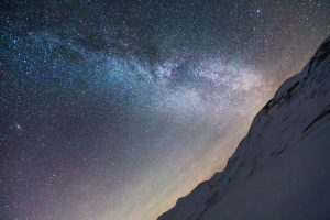 Milky Way Over Snowy Mountains 5K