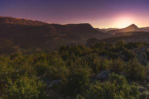 Sunset Over The Mountains (Les Gorges du Verdon – France) 5k