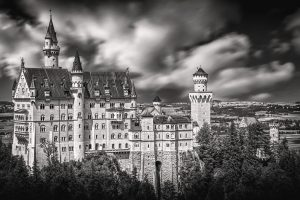 Neuschwanstein Castle (Black & White) HD