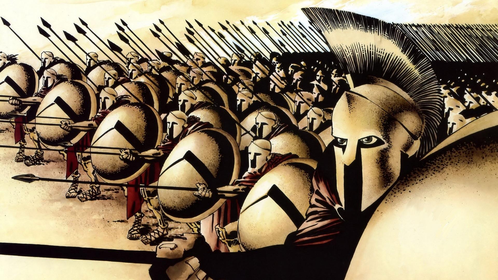 Leonidas And His Spartans 300 Comics Hd Wallpaper