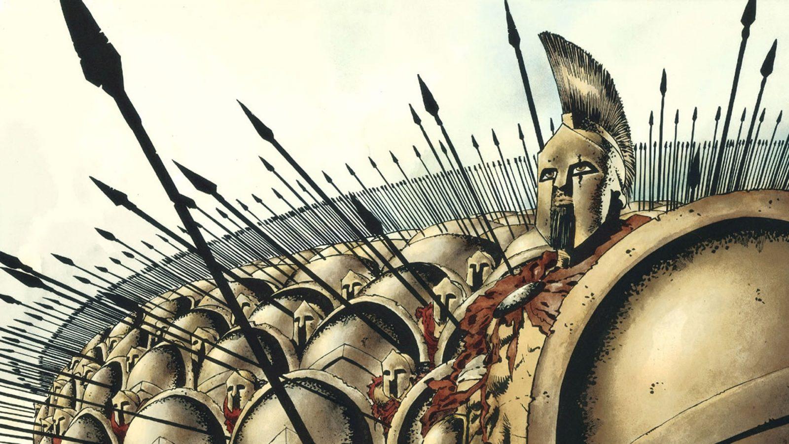 Leonidas And His Army 300 Comics Hd Wallpaper
