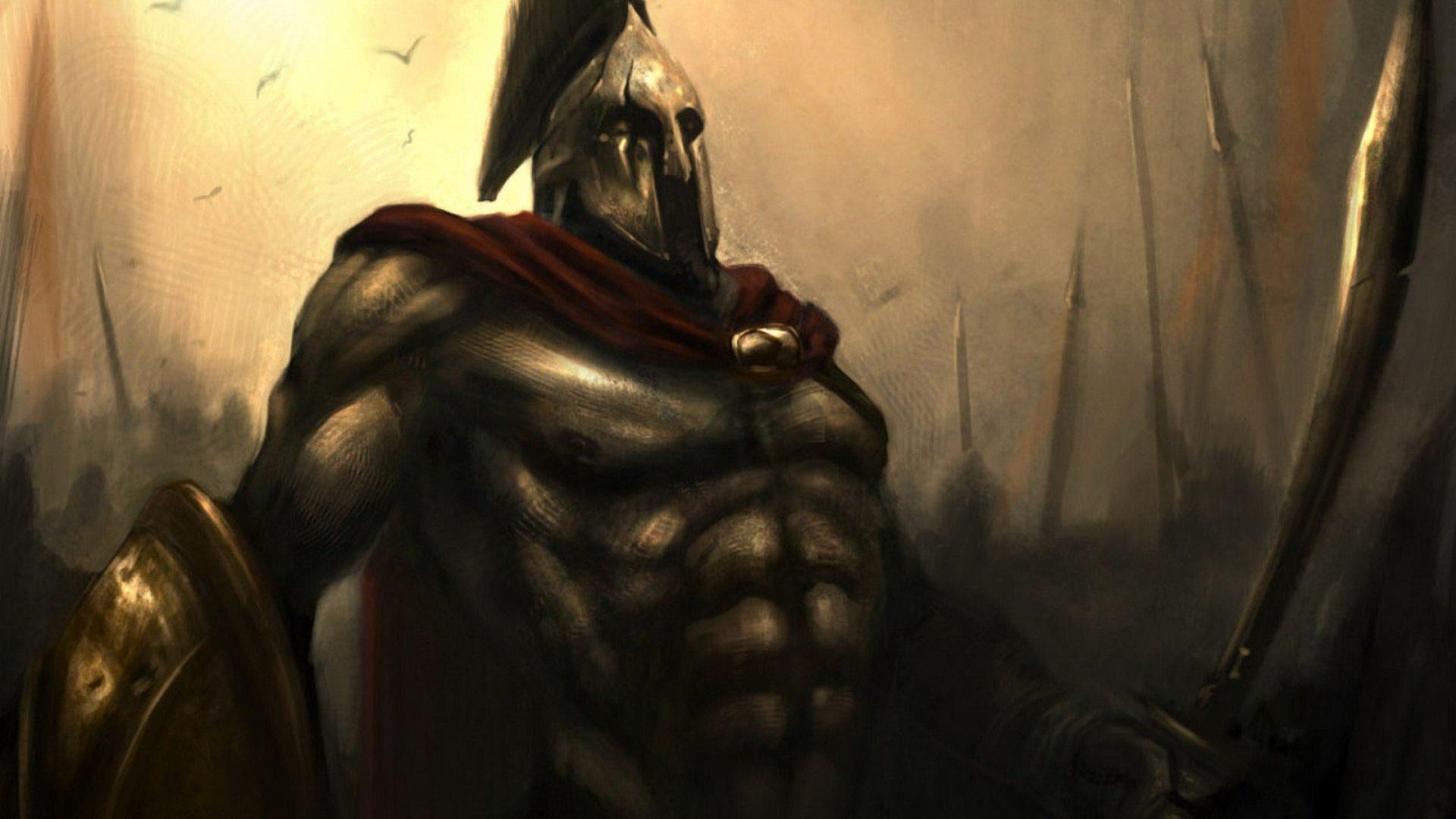 Leonidas Ready For Battle 300 Comics Hd Wallpaper