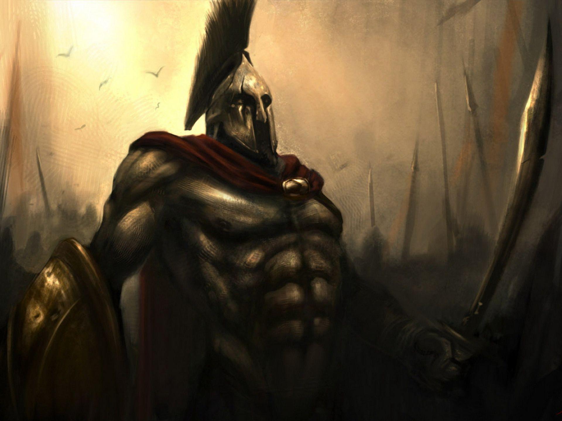 Leonidas Ready For Battle 300 Comics Hd Wallpaper Wallpapersgg