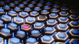 3D Blue Hexagons HD