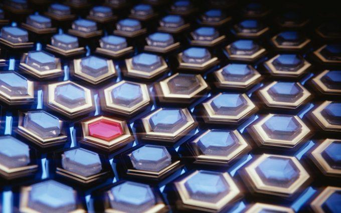 3D Blue Hexagons