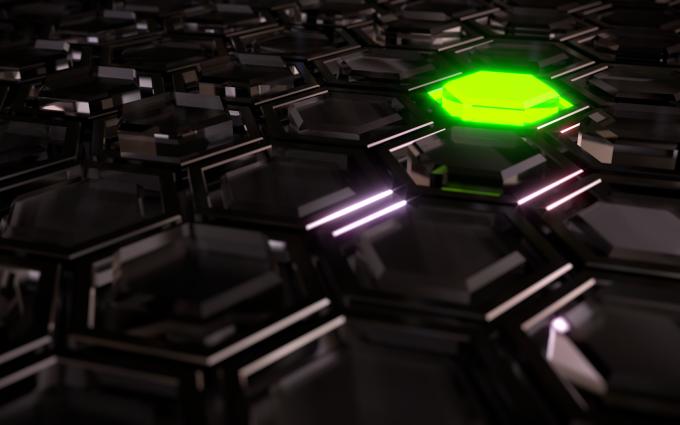 3D Dark Hexagons