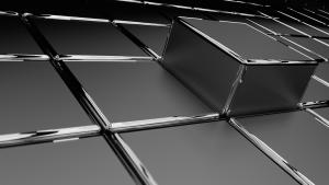 3D Grey Cubes HD
