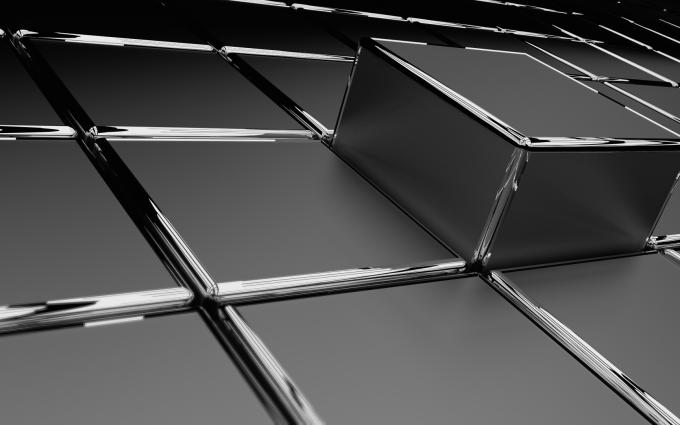3D Grey Cubes