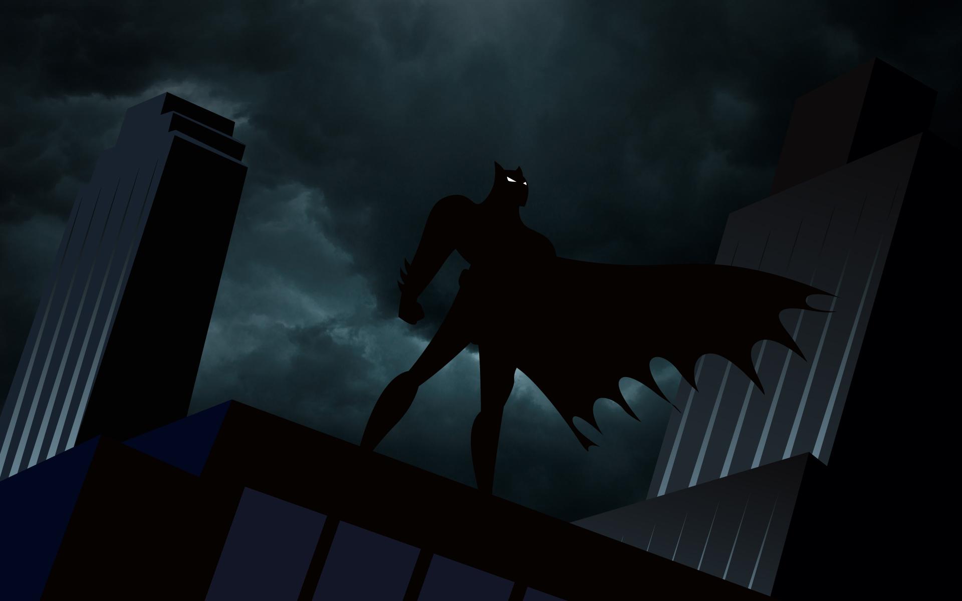 batman at the top of a building (dc comics) hd wallpaper | wallpapers.gg