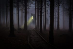 Haunted house in a Dark Forest 5K