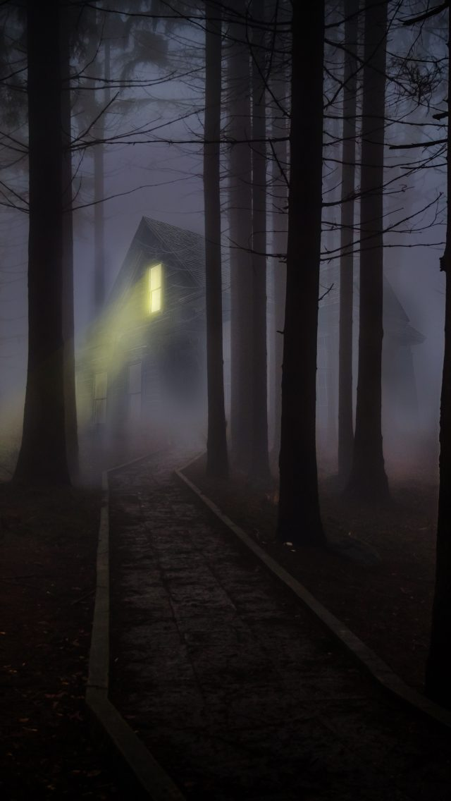 Haunted House In A Dark Forest 5k Uhd Wallpaper