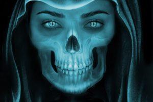 Female Grim Reaper face HD