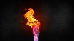 Match on fire 8K (Grunge texture)