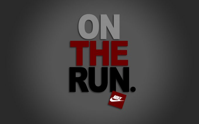 On the run logo