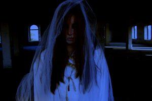 Ghost of Woman in Wedding Dress in the Dark HD