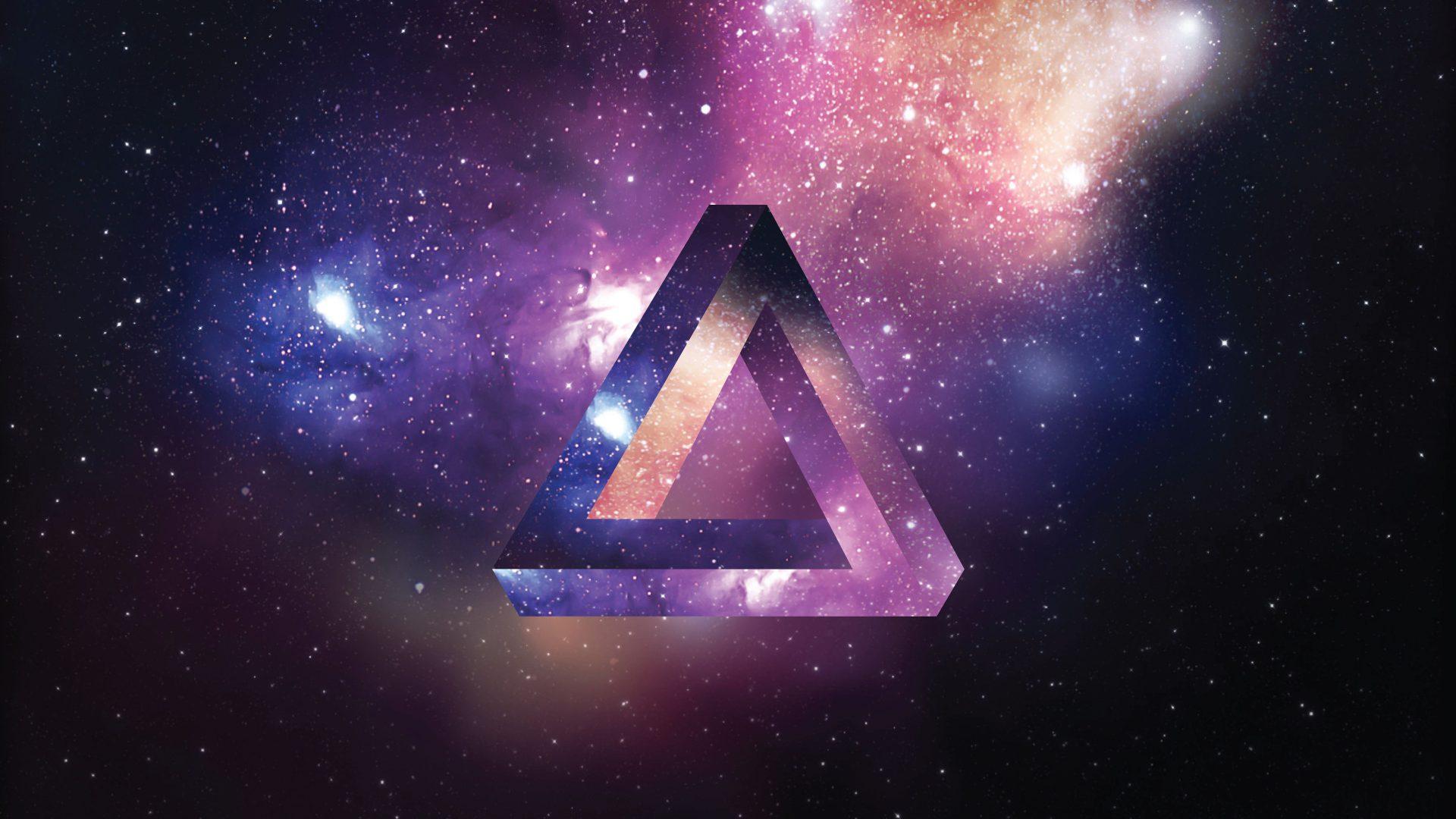 Space Triangle 8k Uhd Wallpaper