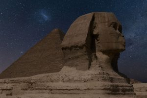 The Great Sphinx of Giza at night with Milky Way (Giza) HD