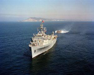 US Warship crossing the ocean HD