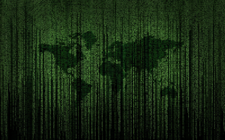 4K World Map Matrix Typography 8K